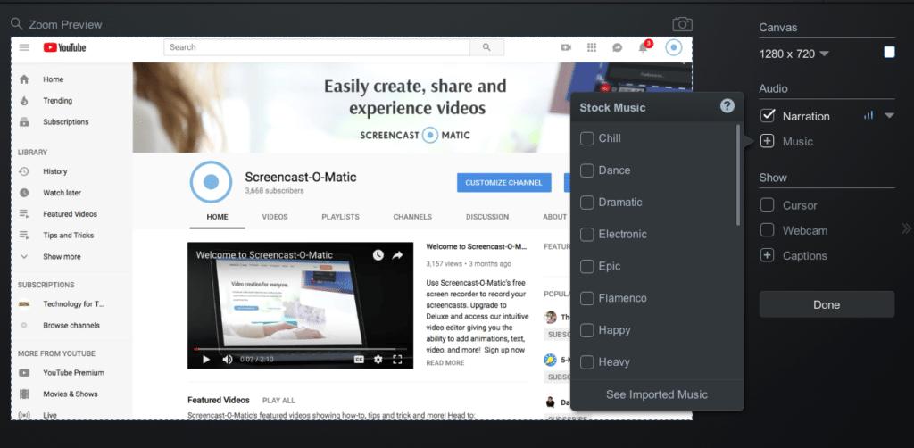 add stock music in video editor