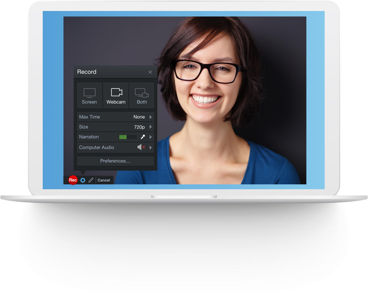 record your webcam