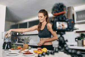 Fitness and health on camera