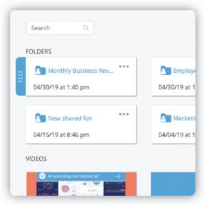 Organization Folders - Video Hosting Platform
