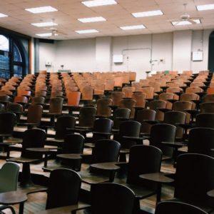 empty lecture halls