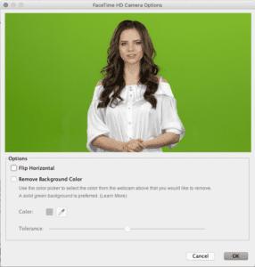 Green-Screen Settings