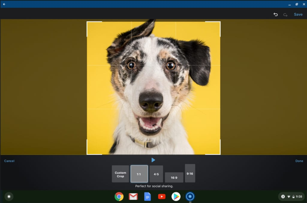 Chromebook Video Editor - Crop and Rotate