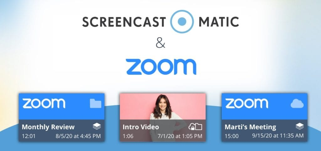 zoom integration with screencast-o-matic