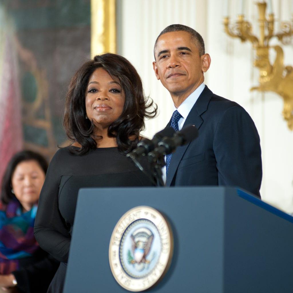 Oprah and President Obama