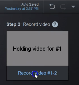 Launch the recorder for scripted video
