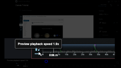 preview playback speed control