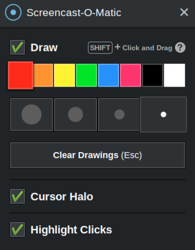 chromebook screen recorder drawing tools